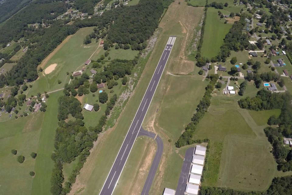 The landing area of Chattanooga Skydiving Company